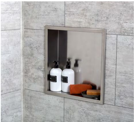 Completed shower niche