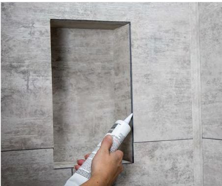 Seal joints with silicone sealant