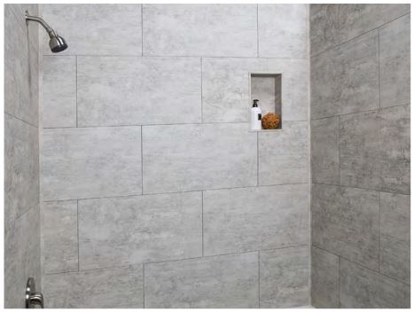 Completed shower niche image 2